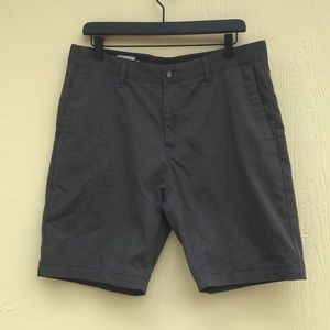 Volcom Corpo Class Shorts In Charcoal Size 33